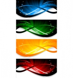 vector set of colorful banner vector image vector image