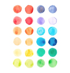 Watercolor paints palette vector image