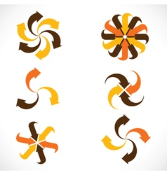 creative arrow icon stock vector image