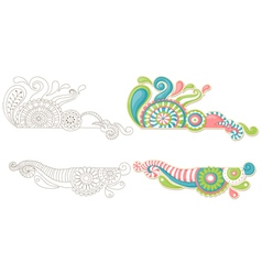 cute hand-drawn doodle vector image
