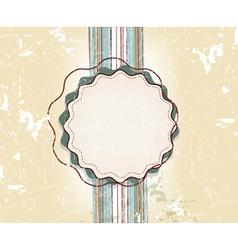 Vintage design template vector image