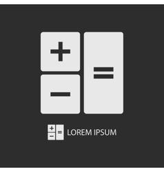 White calculator on dark grey vector image vector image