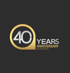 40 years anniversary celebration simple design vector