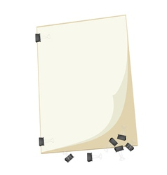 A blank clipboard with group of paper clip vector