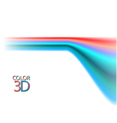 abstract color lines on white background eps10 vector image