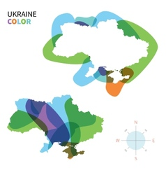 Abstract color map of ukraine vector