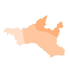 Amur oblast political map vector