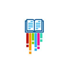 art book logo icon design vector image