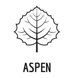 Aspen leaf icon simple black style vector