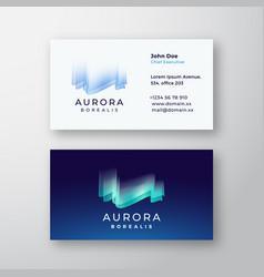aurora borealis northern lights abstract vector image