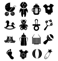 Baby toy icons set vector image