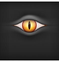 Background with animal eye vector image