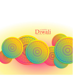 Beautiful happy diwali festival background with vector