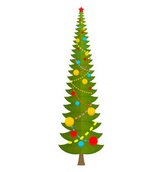 big christmas tree huge spruce large fir new year vector image