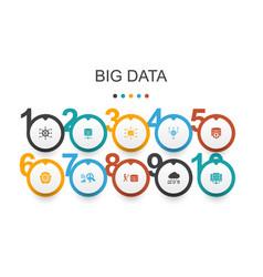 Big data infographic design templatedatabase vector