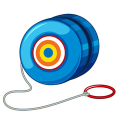 Blue yo-yo with red ring vector