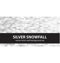 Brick pattern set silver snowfall brick wall vector