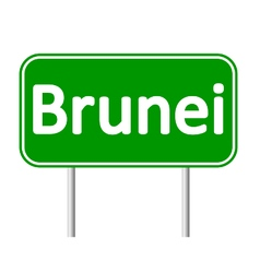 Brunei road sign vector