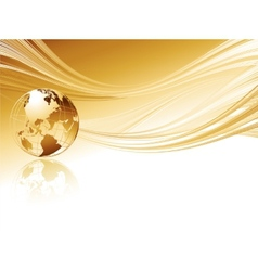 Business elegant abstract background with globe vector image