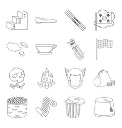 Business history food and other web icon in vector