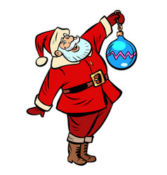 christmas ball decoration santa claus character vector image