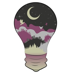 City in a Lightbulb3 vector image