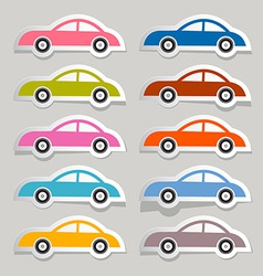 Colorful Paper Cars Set vector image