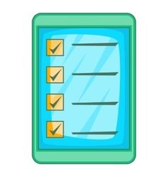 Digital checklist icon cartoon style vector image