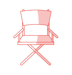 Directors chair design vector