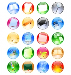 education balls vector image
