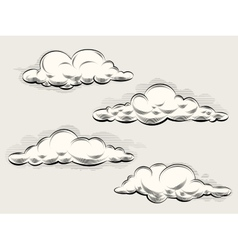 Engraving clouds vector image
