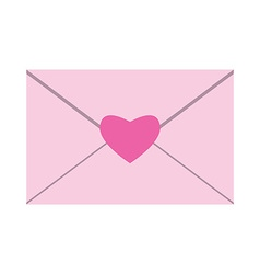 Envelope with heart seal vector image vector image