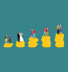 family financial growth vector image