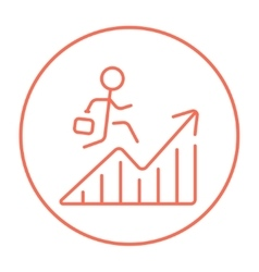 Financial recovery line icon vector image