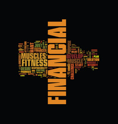 Fitness video text background word cloud concept vector