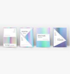 Flyer layout stylish splendid template for brochu vector