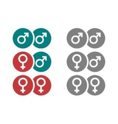 Gender symbols in circles vector
