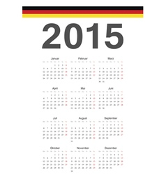 German 2015 year calendar vector