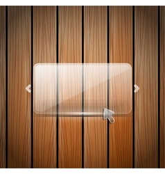 Glass and wooden wall vector