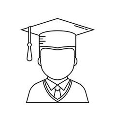 Graduation student icon vector