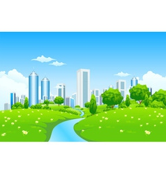 green city landscape vector image
