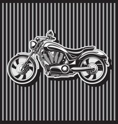 Heavy duty biker motorcycle w-shaped motor image vector