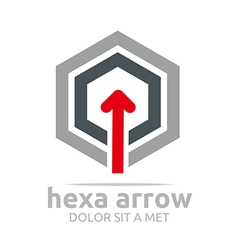 Hexa arrow design element symbol icon vector