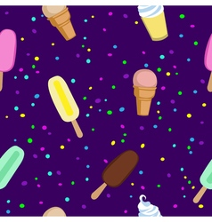 Ice cream and Popsicle party seamless pattern Ice vector