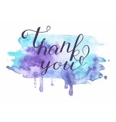 inscription on blue grunge - Thank you vector image