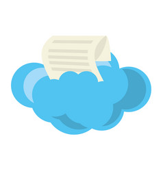 Isolated big cloud vector