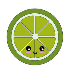 Isolated half cut lemon vector