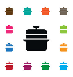 Isolated lid icon culinary element can be vector