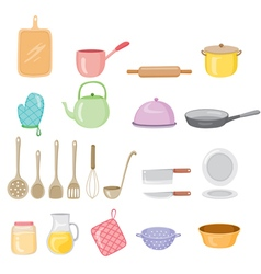 Kitchen Equipment Icons Set vector