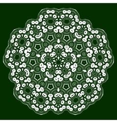 Mandala lace ornament vector